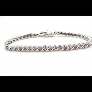 .925 sterling silver diamond tennis bracelet